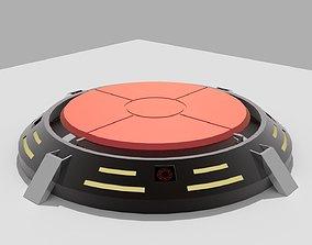 Portal floor button 3D model
