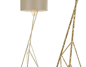 3D model Floor lamp Lucia Tucci Naomi F4730-5 gold