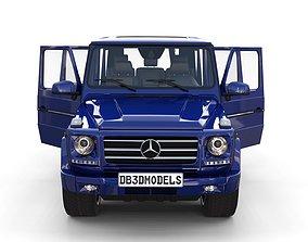 Mercedes Benz G Class with interior 3D model 1