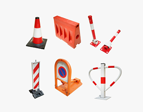 Traffic Safety Devices Pack 3D asset