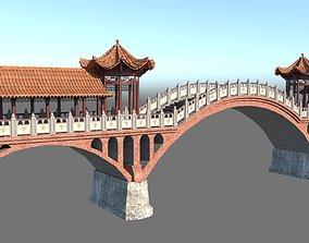 Chinese Bridge 3D asset
