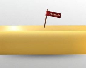 Mozzarella Cheese 3D asset