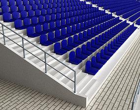 Stadium Concrete Seating Tribune 3D model