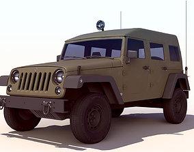 Wrangler Military Jeep - Sufa 3 3D model