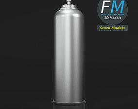 Scuba diving tank gas cylinder 3D