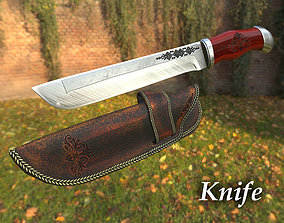 3D asset game-ready Knife props