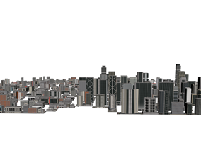3D model skyscrapers buildings eight hundred ninety-two 2