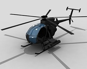 3D model MH6 Helicopter