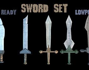3D model Low poly Swords - Game Assets