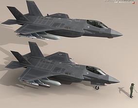 3D model F35A - Israeli Air Force