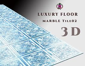 3D asset Luxury Floor - Marble Tiles 02