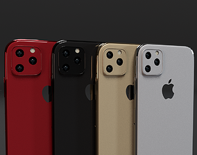 3D model iPhone 11 iPhone 11 Pro iPhone 11 Pro Max In 3