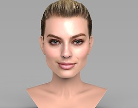 Margot Robbie bust ready for full color 3D printing