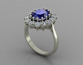 Princess Diana Ring with diamonds 3D print model