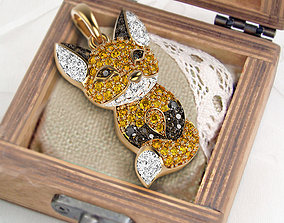 3D print model Little fox pendant silver