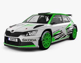 Skoda Fabia R5 2016 3D model