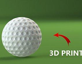 Golf ball 3D printable model golf