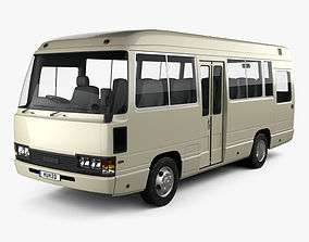 Toyota Coaster Bus 1983 3D