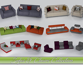 Sofa and Chair collection 3D model