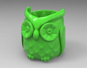 Owl pen holder 3D printable model