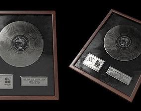 Silver Vinyl 3D asset