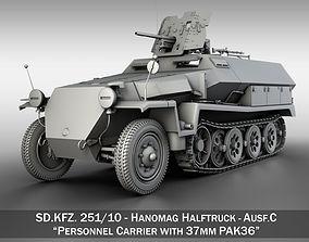 3D model SDKFZ 251 10 - Ausf C - Hanomag Half-track