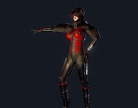 Sci-Fi Female Scout 3D model