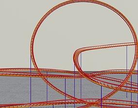 3D asset Rollercoaster