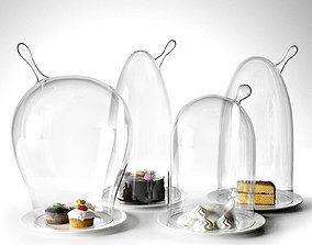 3D Glass Domes with Dessert