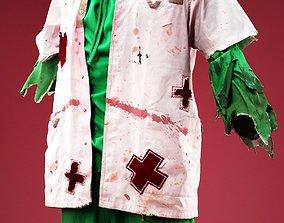 3D model Psycho Horror Nurse Costume