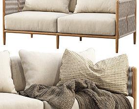 3D model Brown Jordan Maldives Loveseat Sofa