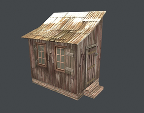 Little house shed 3D model VR / AR ready