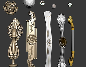 A group of Doorknob drawer handle 3D model
