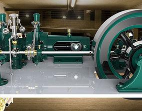 Valve steam model engine