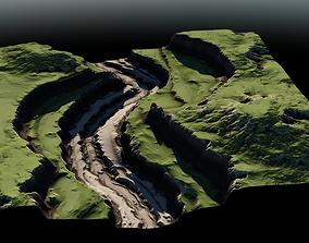 3D model Plateau River 03