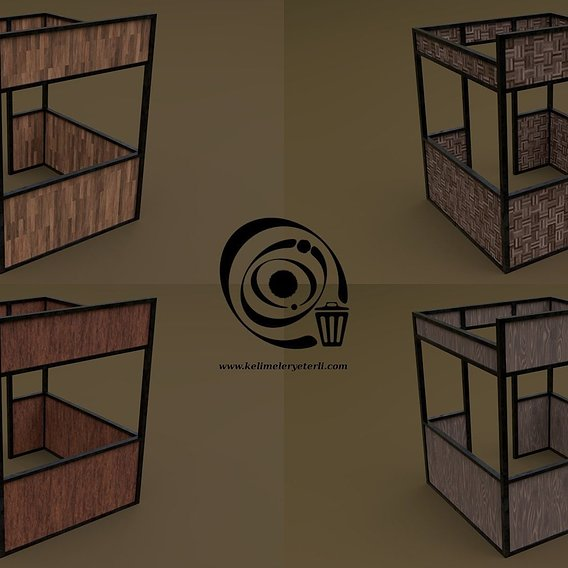 Stall stand 05 4in1 RR - 4 PBR Texture 1 Model