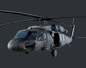 GAME READY Sikorsky UH60 Black Hawk Helicopter 3D model 1