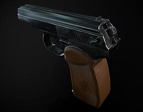 Makarov pistol 3D model low-poly