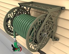 Hose reel wall mount 01 3D model