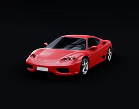 3D model low-poly 1999 Ferrari 360 Modena
