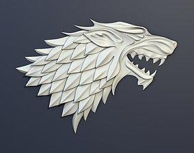 3D asset Game of Thrones House Stark Heraldry