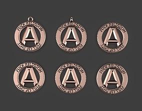 Atheist Punk Pendant Keychain or Pin 3D print model