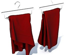 Fabric Hangs Burgundy 3D model