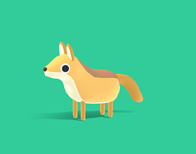 3D model Crafty the Coyote - Quirky Series