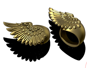 Wing Jewel Ring 3D printable model