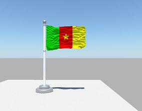 Cameroon flag 3D model