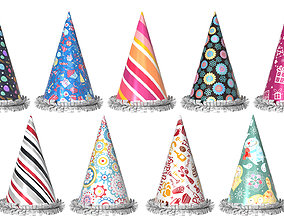3D model game-ready Party Hats