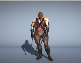 3D Pirate with two shotgun