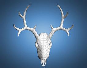 Deer Skull Base Mesh 3D asset