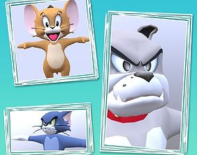 3D model Tom Jerry Spike Package